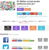Welke sociale mediaplatforms ken jij?