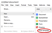 Don't Miss the Google Doc Templates