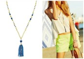 Azure Tassel Necklace