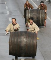 Race of barrels