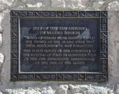 Plaque at the Alamo