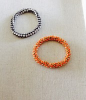 Vintage Twist (silver and coral)