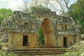 A ceremonial temple