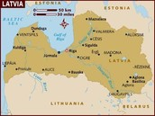 Map of Latvia