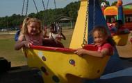 Having fun on the carousel!