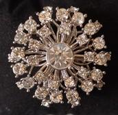 Vintage Starburst Brooch