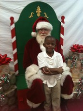 Have your child's picture taken with Santa.