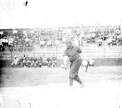 Rube Foster At Bat