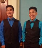8th Grade Graduates, Sylvan and Saul!