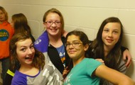 It is not hard to find pictures of sixth graders being goofy.