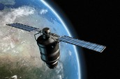 space probe around earth