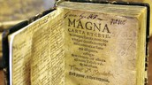 A bound copy of the Magna Carta, from 1556, owned by Benjamin Franklin