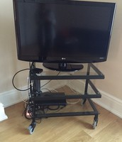 SOLD LG Television - £100. Glass TV Stand - FREE