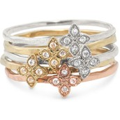 Moraley Flower Stackable Rings (Size 7)
