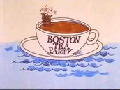 the Boston Tea Party from a video