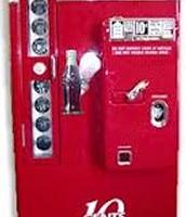 A 1930's coke vending machine.