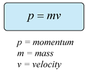 What is the equation for momentum?