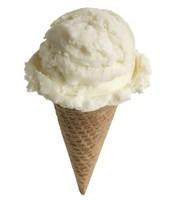 un helado de vainilla