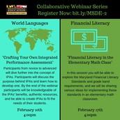 World Languages & Financial Literacy Webinars