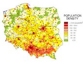 Poland pollution density