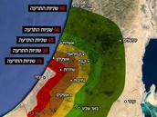 Actual range of Hamas rockets.