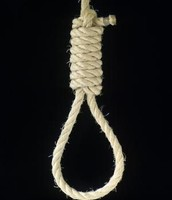 previously tied rope in hangman's noose
