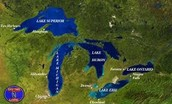 this is a over look of Michigan and the great lakes.