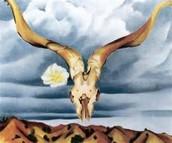 Ram's Head White Hollyhock and Little Hills