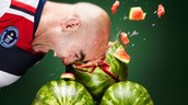 MOST WATERMELONS CRUSHED WITH THE HEAD IN 1 MINUTE