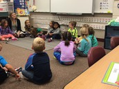 Mrs. Solinger's class greeting and sharing.
