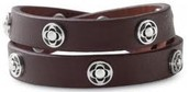 Clover Wrap Bracelet Brown with silver