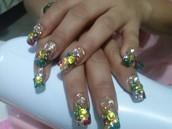 En la aplicación de tus uñas!!!!!