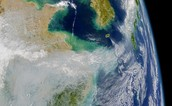 Air pollution satellite image