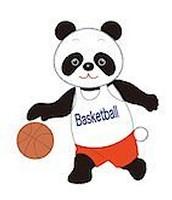 Panda playing basketball