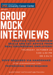 Group Mock Interviews w/ Engineering Employers (10/20)
