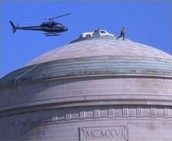 Police car on MIT dome