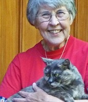 Peg Kehert with her cat