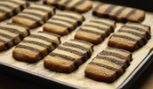 Chocolate Harlequin Biscuits