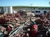 Hydraulic fracking in process