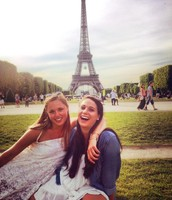 One of my best friends, Hanna, and I in Paris (Summer 2014)