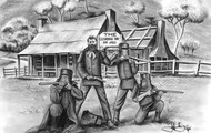 A Drawing Of The Kelly Gang.