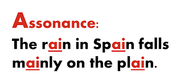 Find a picture of the term assonance