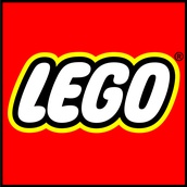 The LEGO logo is inside of a square