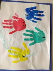 Monthly Craft - Hand Print Fish In a Fishbowl