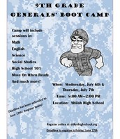 Rising 9th Grade Boot Camp at Shiloh High