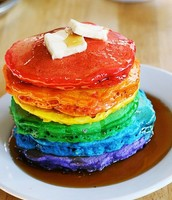 los panqueques de arco iris