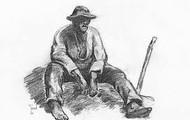 A tired farmer
