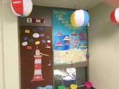Mrs. Stahl's class created the winning door!