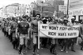 Protesters call Vietnam a rich man's war