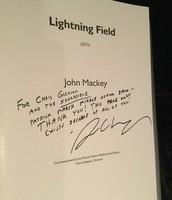 "Signed copy of ""Lightning Field"""